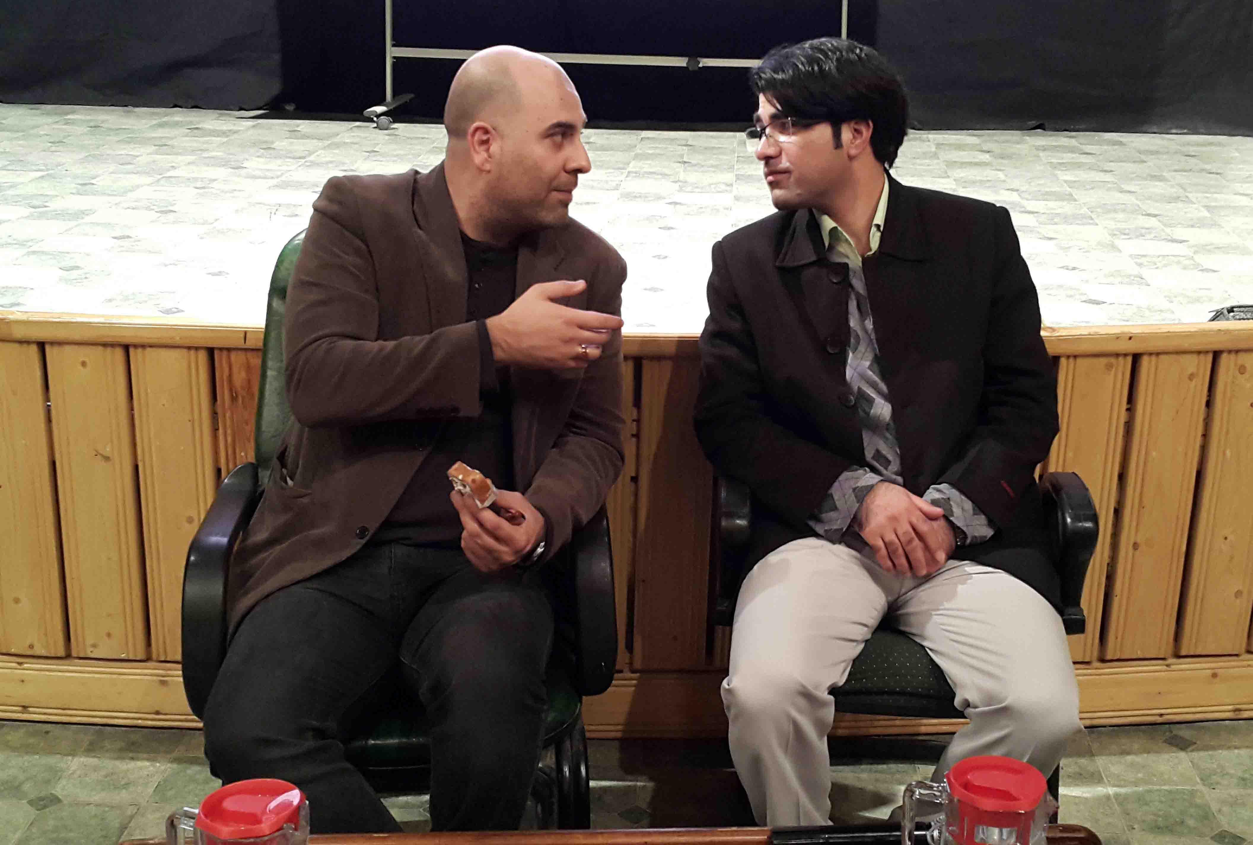 سید مرتضی سبزقبا و سعید قطبی زاده در هفته ی باشگاه فیلم موسسه ی شهید آوینی