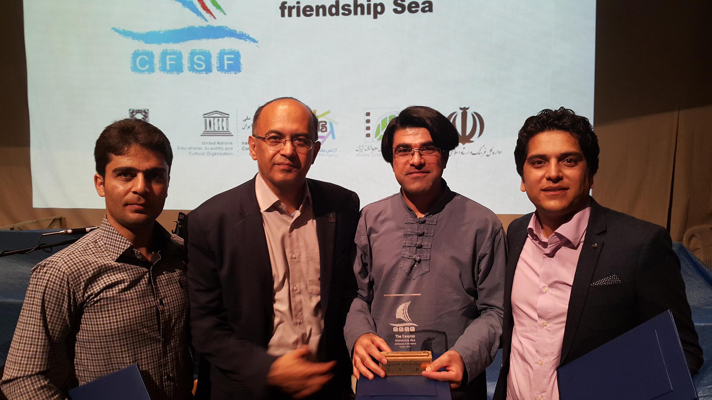 سید مرتضی سبزقبا در مراسم اهدای جوایز دومین جشنواره ی ملی فیلمنامه نویسی کاسپین